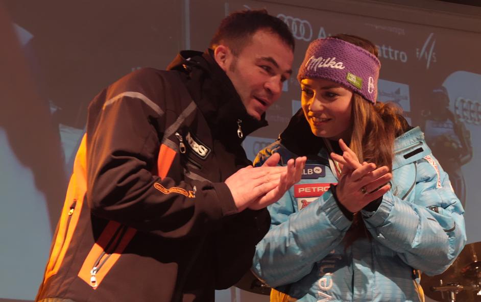 Dva svetovna prvaka Dejan Zavec in Tina Maze